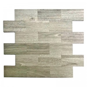 3D hout mode stijl Subway Mix aluminium Mosaico tegel Peel en Stick Backsplash tegels